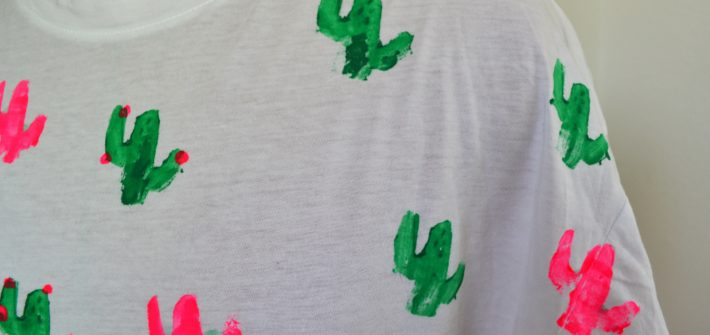 DIY tee shirt tampon mise en avant