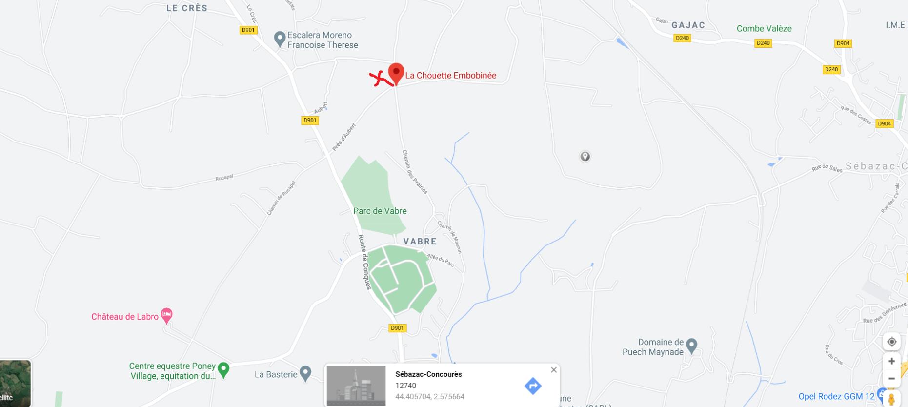 Plan accès La Chouette Embobinée
